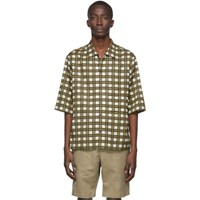 Joseph Off White Isaac Check Short Sleeve Shirt