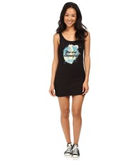 Life Is Beautiful You Are Splatter Tank Dress Black Women's Dress