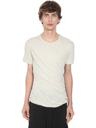 Rick Owens Double Light Cotton Jersey T Shirt Pearl
