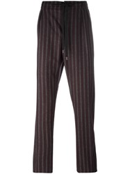 Andrea Pompilio Drawstring Striped Trousers