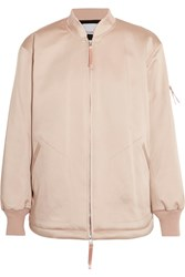 Alexander Wang T By Oversized Satin Bomber Jacket Blush