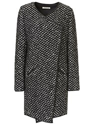 Betty Barclay Textured Knit Coat Black White