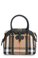 Burberry 'Small Milverton House Check' Satchel Black