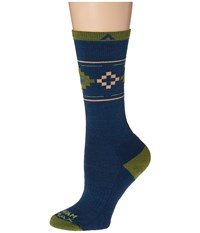 Wigwam Copper Canyon Pro Dark Denim Women's Crew Cut Socks Shoes Navy