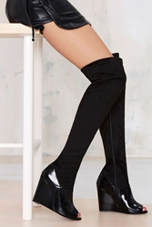 Nasty Gal Jeffrey Campbell Chastity Thigh High Suede Boot