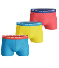 Bjorn Borg Noos Contrast Waistband Trunks Pack Of 3 Blue Yellow Pink Blue Yellow Pink