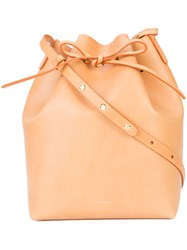 Mansur Gavriel Bucket Bag Nude And Neutrals