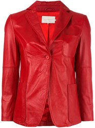 L'autre Chose Fitted Jacket Red