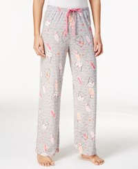 Hue Printed Knit Pajama Pants Love Letters