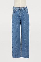 Aalto Cropped Jeans Light Blue