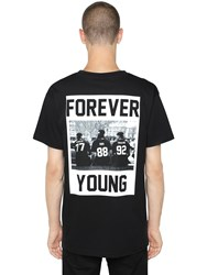 Les Artists Forever Young Printed Jersey T Shirt