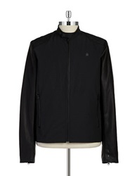 G Star Edia Zip Up Moto Jacket Black