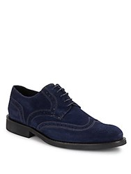 Bugatchi Siena Wingtip Toe Lace Up Suede Shoes Cacao