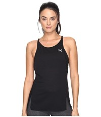 Puma Dancer Drapey Tank Top Black Heather Women's Sleeveless