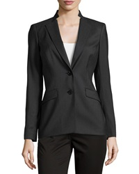 Lafayette 148 New York Long Sleeve Double Button Blazer Black
