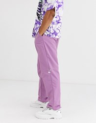 Jaded London Nylon Joggers In Purple With Toggles