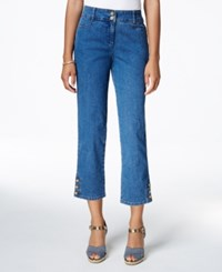 Charter Club Tummy Control Cropped Jeans Only At Macy's Antique Indigo