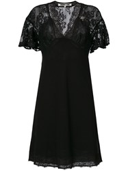 Mcq By Alexander Mcqueen Lace Panel Butterfly Sleeve Dress Women Polyamide Polyester 38 Black