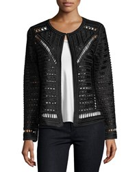 Berek Crochet Topper Jacket Plus Size Onyx