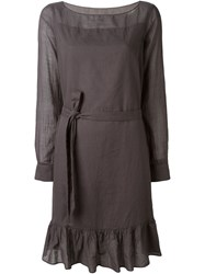 Aspesi Belted Fluted Hem Dress Grey