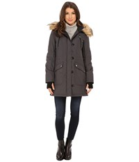 Jessica Simpson Polybonded With Faux Fur Steel Women's Clothing Silver