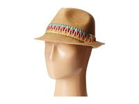 Steve Madden Thick Tribal Band Fedora Natural Fedora Hats Beige