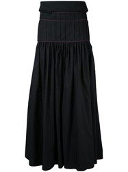 Ellery Pleated Maxi Skirt Black