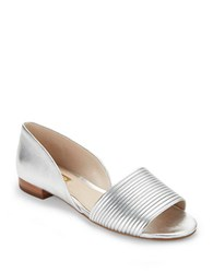 Louise Et Cie Comino Leather D Orsay Sandals Silver