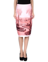 Just In Case Knee Length Skirts Pink