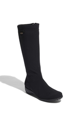 Mephisto 'Linda' Waterproof Stretch Boot Black Lycra