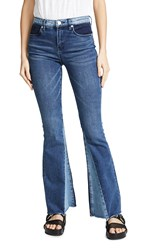 Blank Denim Patchwork Flare Jeans Mix And Match