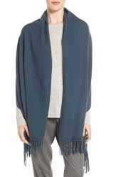 Nordstrom Women's Collection Cashmere Wrap Navy Midnight