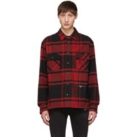Off White Red And Black Luxury Checked Shirt