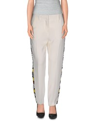 Msgm Trousers Casual Trousers Women White