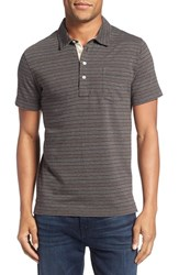 Billy Reid Men's Pensacola Stripe Polo Grey