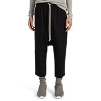 Rick Owens Astaire Wool Crop Trousers Black