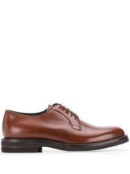 Brunello Cucinelli Classic Derby Shoes Brown