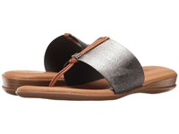 Andre Assous Nice Pewter Elastic Women's Sandals
