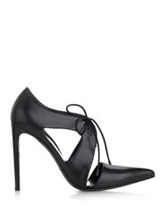 Balenciaga Lace Up Leather Pumps Black
