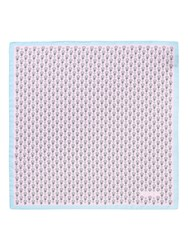 Thomas Pink Heart And Flower Print Pocket Square Blue