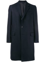 Caruso Tailored Single Breasted Coat Blue