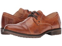 Bed Stu Repeal Cognac Rustic Men's Lace Up Cap Toe Shoes Brown