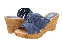 Spring Step Dora Blue Women's Wedge Shoes