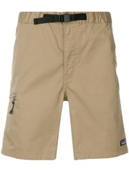 Patagonia Buckled Elasticated Waistband Shorts Nude And Neutrals