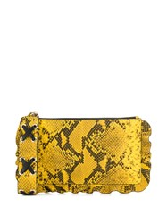 Red Valentino V Snake Effect Clutch Yellow