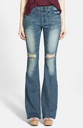 Junior Women's Lee Cooper 'Angie' Flare Jeans Medium Wash