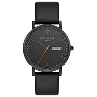 Ted Baker Te15196012 Men's Grant Day Date Leather Strap Watch Black