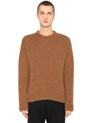 Dsquared Alpaca And Wool Blend Knit Sweater Camel