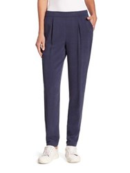 Akris Punto Elastic Waist Pants Blue Denim