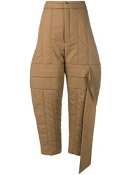 Chalayan Padded Trousers Brown